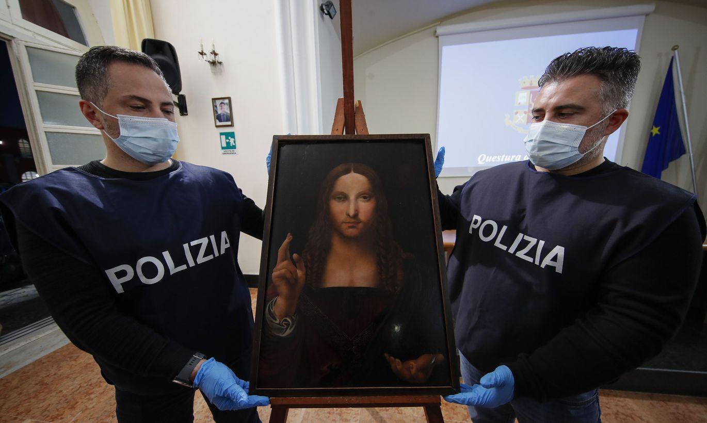 Itālijas policija atgūst Leonardo da Vinči gleznas repliku, nemaz nezinot, ka tā bija pazudusi