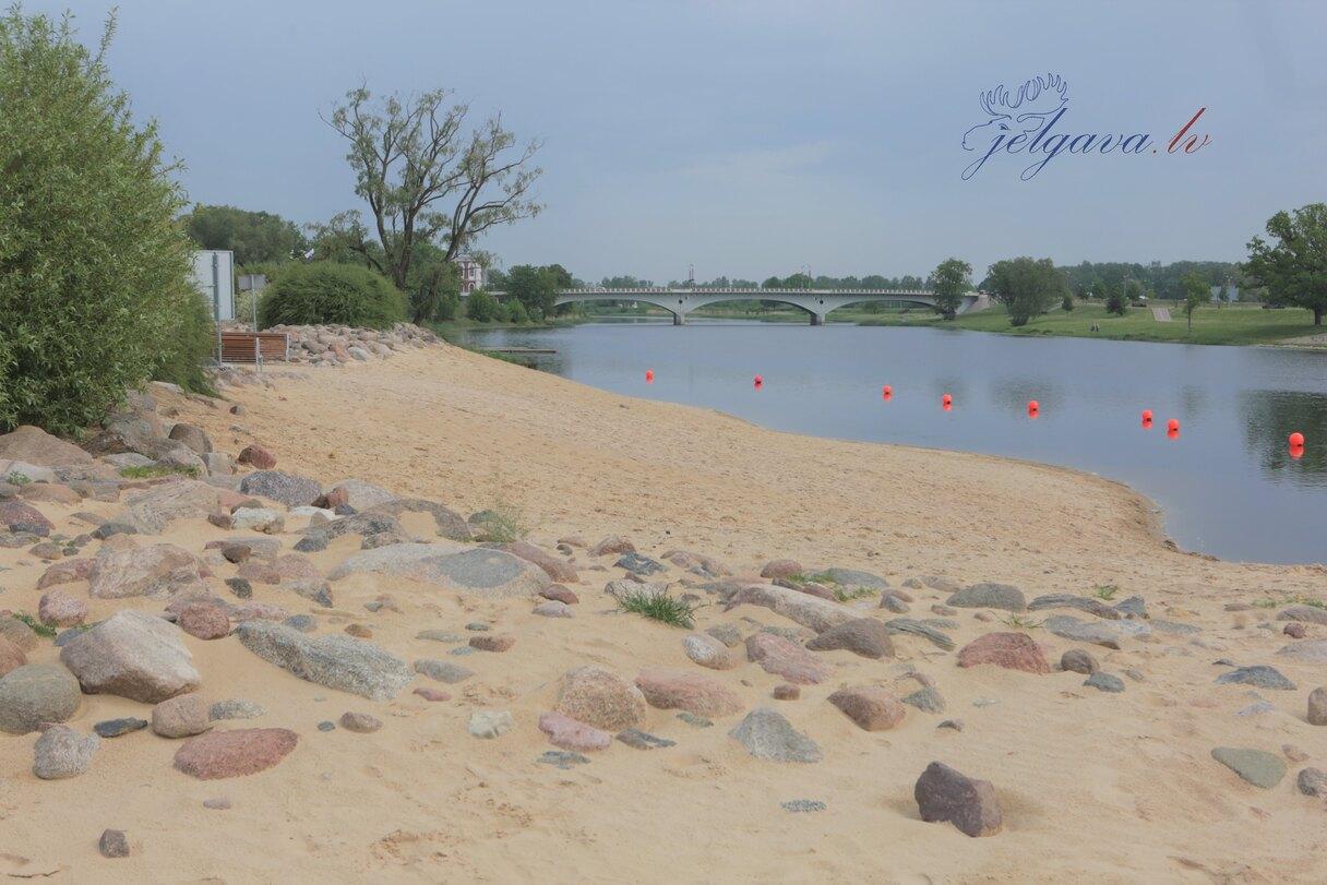 Aicina nepeldēties Jelgavas Pasta salas peldvietā