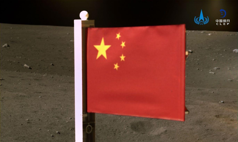 Ķīna uz Mēness atstājusi savu pirmo auduma karogu