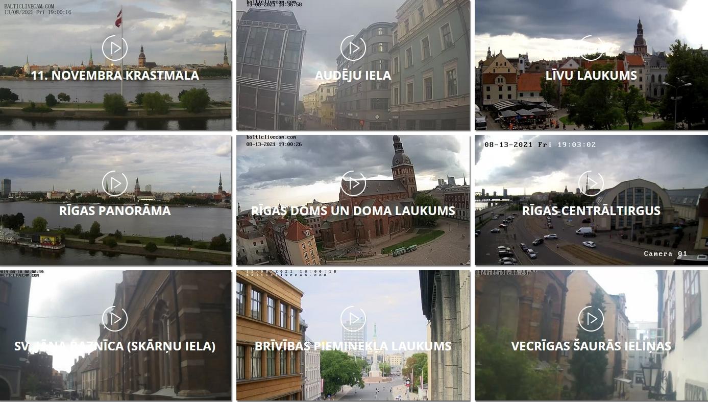 Tiešsaistes kameras Rīgā
